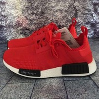 Adidas Women Men Trending NMD Running Sports Shoes Red-1