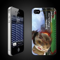 Baseball Theme iPhone Hard Case 'Harry Caray Quote' - White Protective for iPhone 4/4s