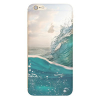Blue Splashing Waves Phone Case For iPhone 7 7Plus 6 6s Plus 5 5s SE