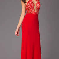 Floor Length Halter Dress by Dave and Johnny