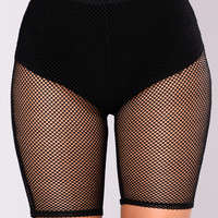 Street Ready Fishnet Shorts - Black