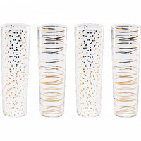 Luxe Moderne Flutes, Set of 4