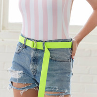 Canvas D-Ring Belt   Urban Outfitters