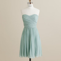 MINT Wedding dress , chiffon party dress, mint blue bridesmaid dress, strapless formal dress  (B072)