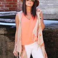 Hit The Spot Sleeveless Cardigan