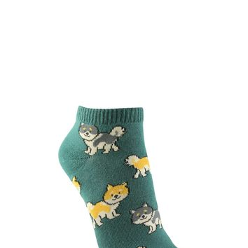 Dog Print Ankle Sock Set - 5 Pack - Women - 2000254132 - Forever 21 Canada English