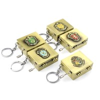 Beautiful Melody Music Box Key Chain Hogwarts School of Witchcraft and Wizardry Slytherin Hufflepuff Ravenclaw Gryffindor Gifts