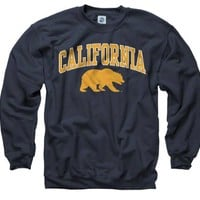 California Bears Navy Perennial II Crewneck Sweatshirt