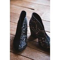 Hunny Two Tone Slip On Bootie, Black | Coconuts by Matisse