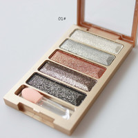 New Brand 5 Color Glitter Eyeshadow Makeup Eye Shadow Palette