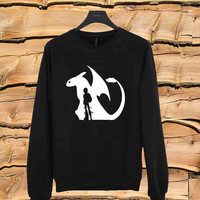 how to train your dragon sweater Sweatshirt Crewneck Men or Women Unisex Size