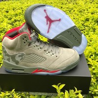 2017 Release Air Retro 5 Camo Retros 5s V Men And Women Basketball Shoes Gray With Original Box Shoes Sneakers-1