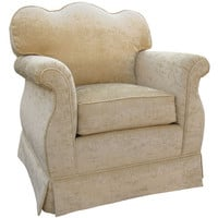 Angel Song 201721192Down Versailles Velvet Taupe Adult Empire Rocker Glider w/ Plush Down Cushion