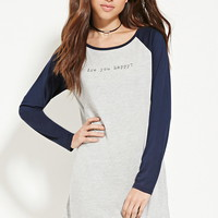 Are You Happy Nightdress   Forever 21 - 2000186543