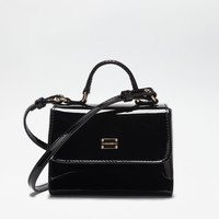 Accessories for Girls 2-12 years | Dolce&Gabbana - PATENT LEATHER HANDBAG WITH SHOULDER STRAP
