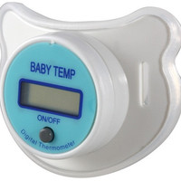 Digital Pacifier Thermometer for Babies (White)