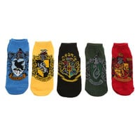 Harry Potter House Crest No-Show Socks 5 Pair