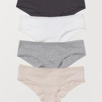 4-pack Cotton Hipster Briefs - Powder pink/gray melange - Ladies | H&M US