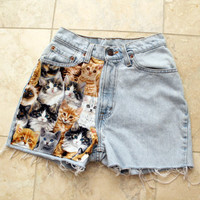 Cat High Waisted Shorts 24 inches