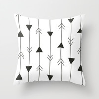 which way. Throw Pillow by Pink Berry Patterns
