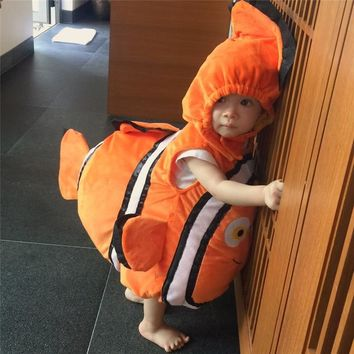 Deluxe Adorable Child Clownfish From Pixar Animated Film Finding Nemo Little Baby Fishy Halloween Christmas Cosplay Costume
