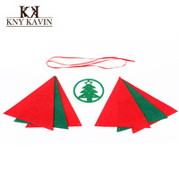 5Set/Lot Christmas Bunting Flag  Christmas Decoration Supplies Christmas DIY Felt Fabric For Christmas Gifts HF022