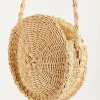 Small Circle Straw Round Crossbody Bag | Urban Outfitters