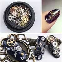 1Box/Lot 3D Nail Art Decoration Alloy Thin Sheet Gears Design Charms Nails Accessories DIY Beauty Manicure Supplies