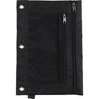 Staples® 3-Ring Pencil Pouch, Black