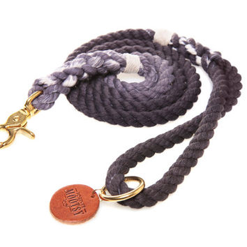 Charcoal Ombré Rope Dog Leash