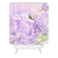 Lisa Argyropoulos Lavender Peonies Shower Curtain