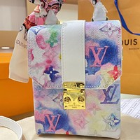 Louis Vuitton LV tie-dye mobile phone bag handbag shoulder bag