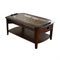 Solid Hardwood & Glass Foosball Table Coffee-Table