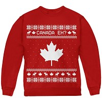 Canadian Canada Eh Ugly Christmas Sweater Youth Sweatshirt