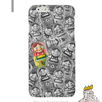 Russian Doll iPhone5 Case Galaxy S4 Case Matryoshka iPhone4s Case Black and White iPhone Cover iPhone 5s Case Matryoshka iPhone 5s Case