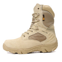 Summer Men's Desert Camouflage Military Tactical Boots Men Outdoor Combat Army Boots Botas Militares Sapatos Masculino