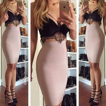 Tight lace two-piece