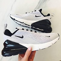Nike Air Max 270 3rd Generation Nike 270 3rd Generation Shoes Half Palm Air Cushion Mesh Surface Breathable Men's and Women's Casual Sneakers 3
