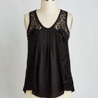 Mid-length Sleeveless Ascension to Detail Top
