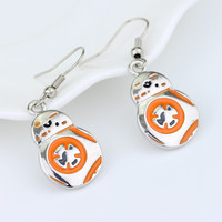 2016 Star Wars  Earring The Force Awakens BB-8 Earring Robot Earring Alloy Jewelry  Retail Silver Plated Earring free shipping