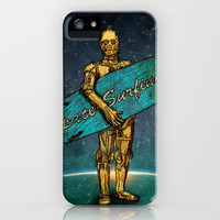 Space Surfer iPhone Case by Maximilian San | Society6
