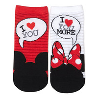 Mickey & Minnie Love You Socks