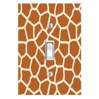 Giraffe Light Switch Cover with Decal Giraffe Print Animal Wall Art Decor LS15