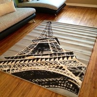 Walmart: Terra Paris Rectangle Area Rug Grey/Black/Cream