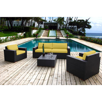 Coral Gables 5 Piece Sofa Patio Set Multiple Colors