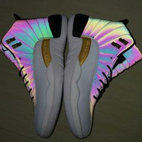 Air Jordan 12 Rainbow White Men Sneakers - Best Deal Online