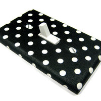 Black and White Polka Dot Light Switch Cover Rockabilly Decor College Dorm Decoration Switch Plate Switchplate 838