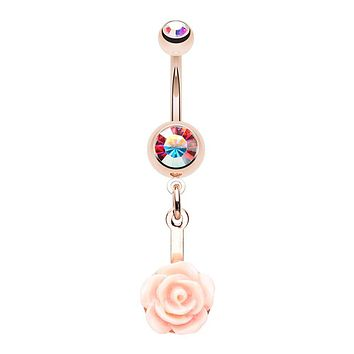 WILDKLASS Stop and Smell The Rosé Belly Button Ring