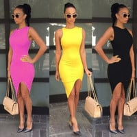 Fashion Sexy Women's Lady Summer Casual Bandage Bodycon  Evening Party Cocktail Short Mini Dress 5 Colors = 1945907076