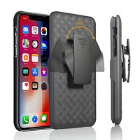 Apple iPhone 11 Case, Rugged Slim Rotating Swivel Lock Holster Shell Combo Clip Cover For iPhone 11
